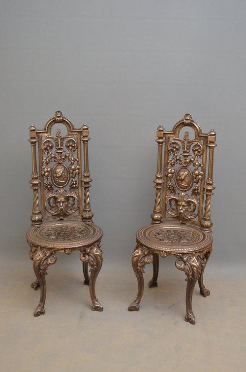 Antiques Atlas - Pair Of Decorative Cast Iron Chairs