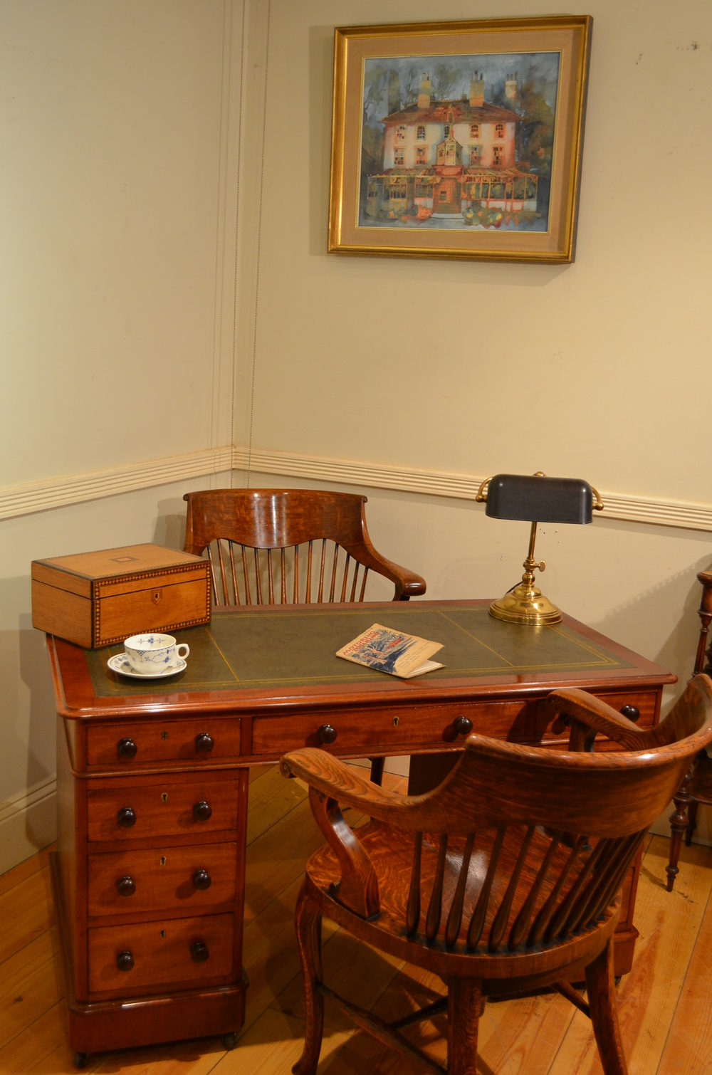 Pair Of Victorian Office Chairs Antiques Atlas