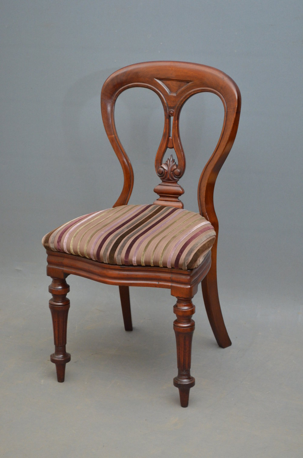 Quality Set Of 12 Victorian Mahogany Dining Chairs ...
