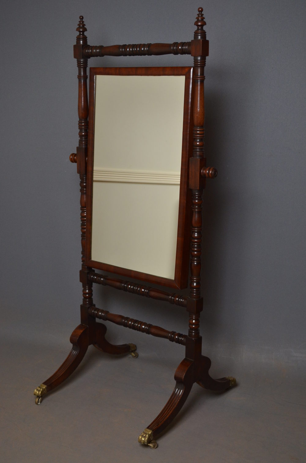 Antiques atlas regency cheval mirror mahogany cheval for Cheval mirror