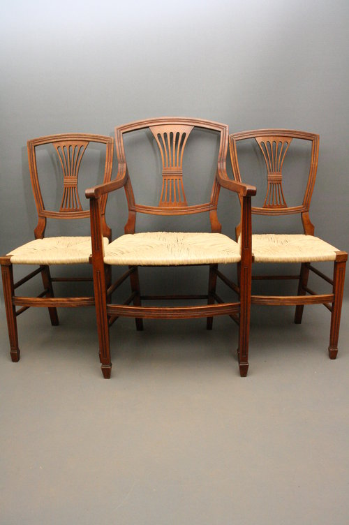 Set Of 8 Arts Crafts Dining Chairs Antiques Atlas