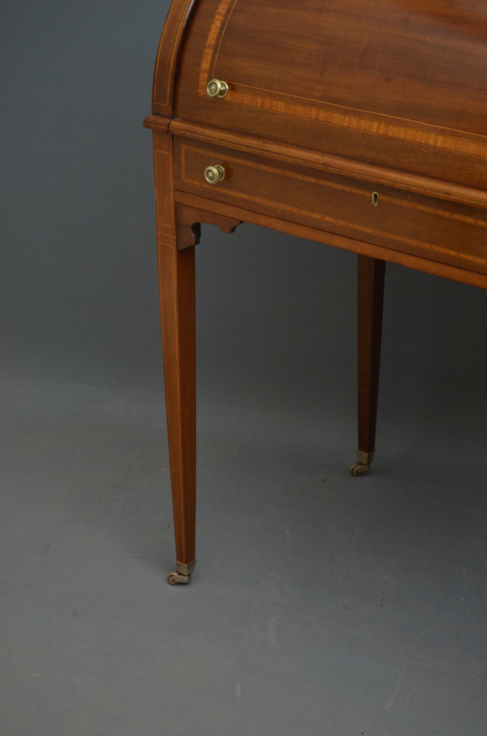Small edwardian mahogany bureau writing table antiques for Bureau table