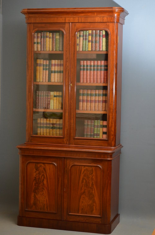 Small Victorian Bookcase Mahogany Bookcase Antiques Atlas