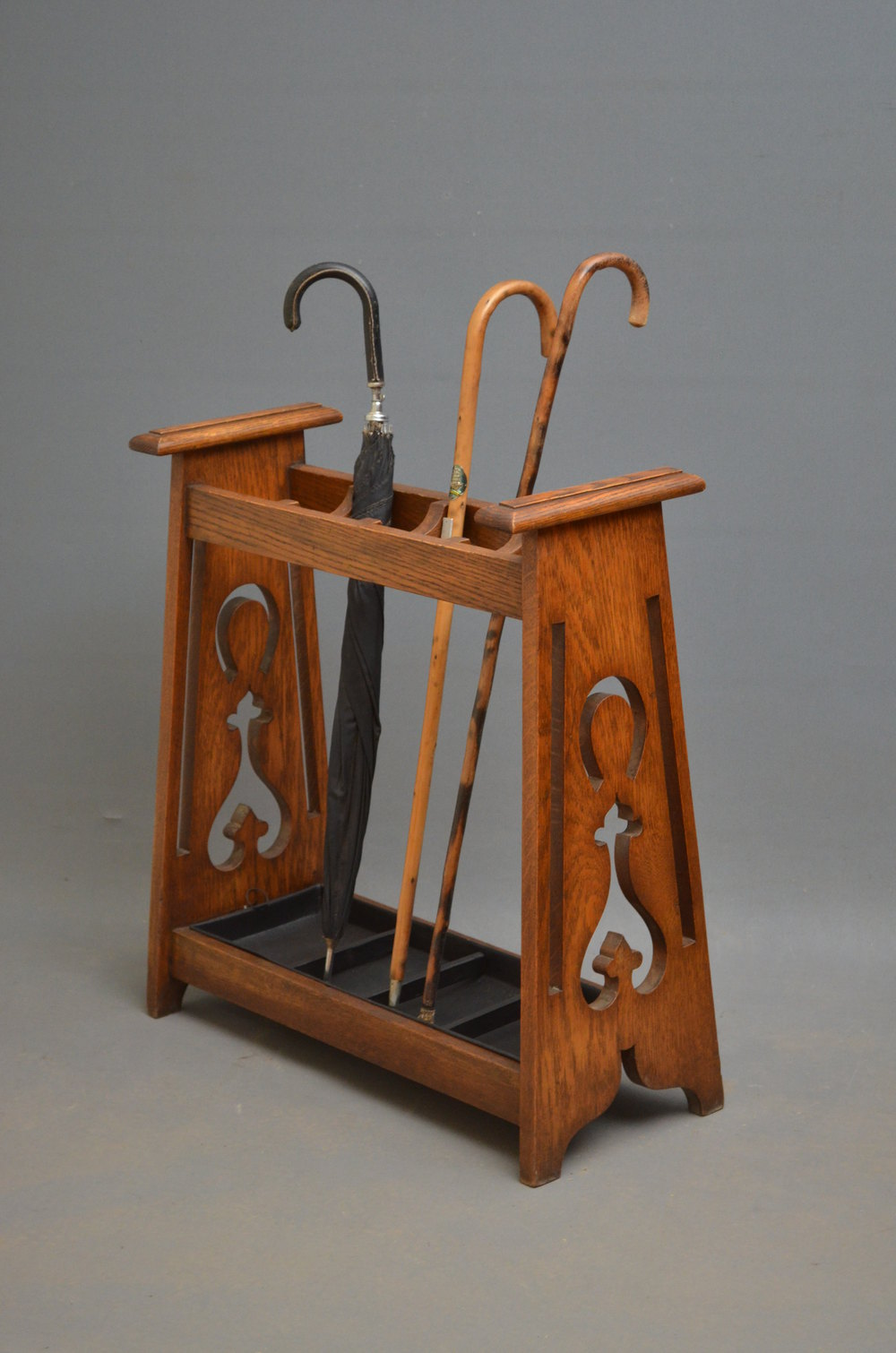 Stylish Arts And Crafts Umbrella Stand In Oak Antiques Atlas