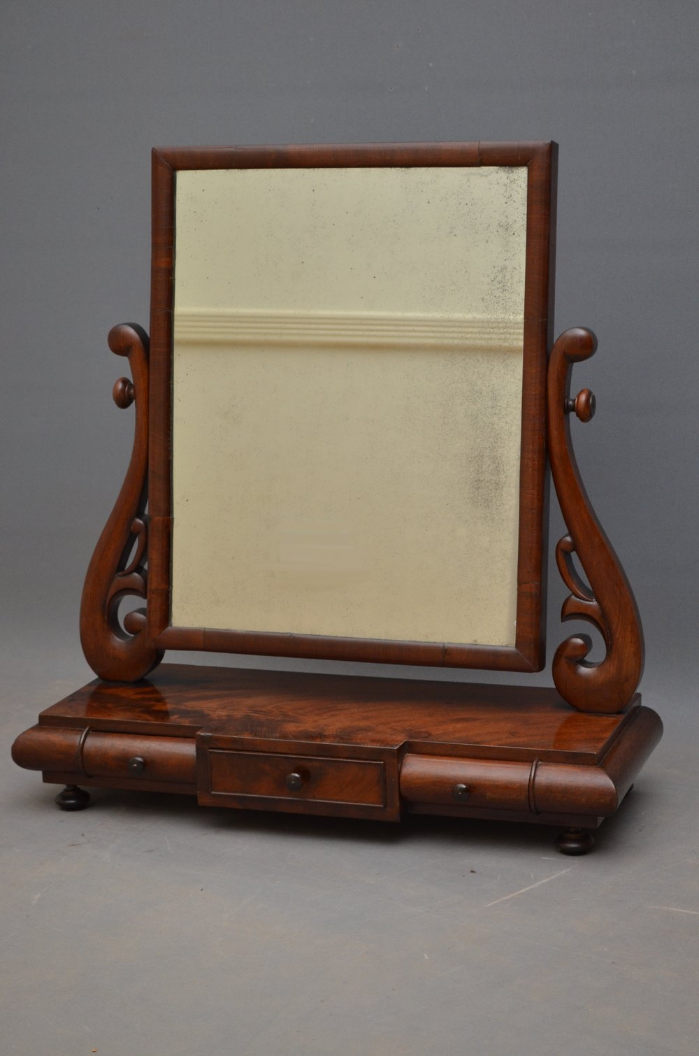 Antiques atlas stylish william iv dressing mirror in mahogany for Dressing mirror