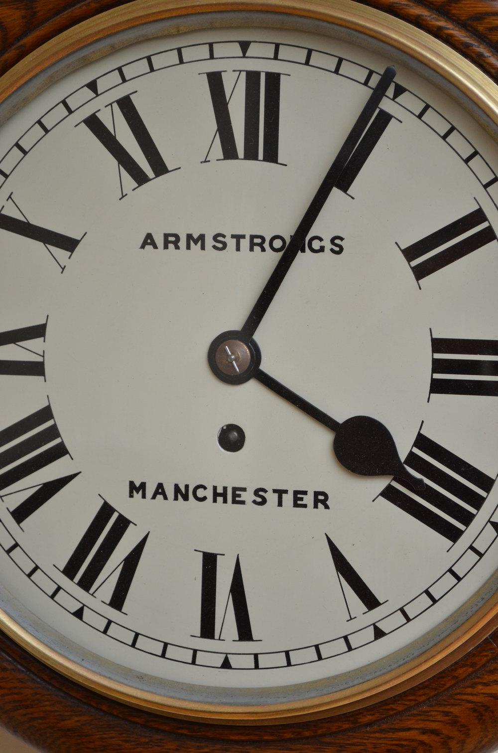 Antiques Atlas Victorian 10 Quot Oak Wall Clock Armstrongs