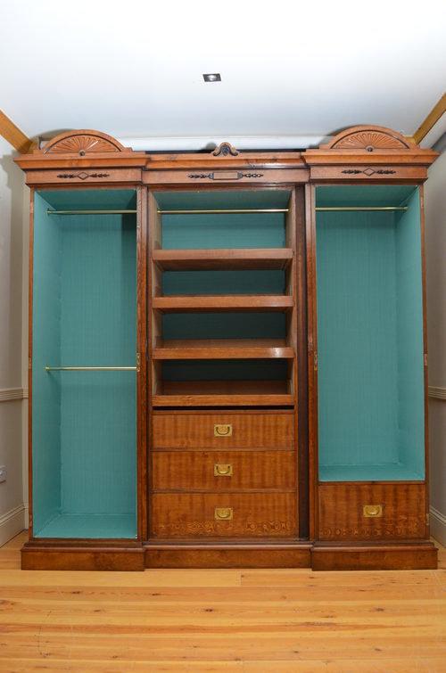 Victorian 3 Door Wardrobe In Pollard Oak Antiques Atlas