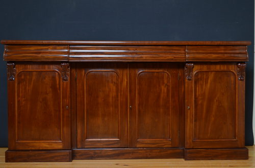 Victorian mahogany sideboard antiques atlas for Door furniture uk