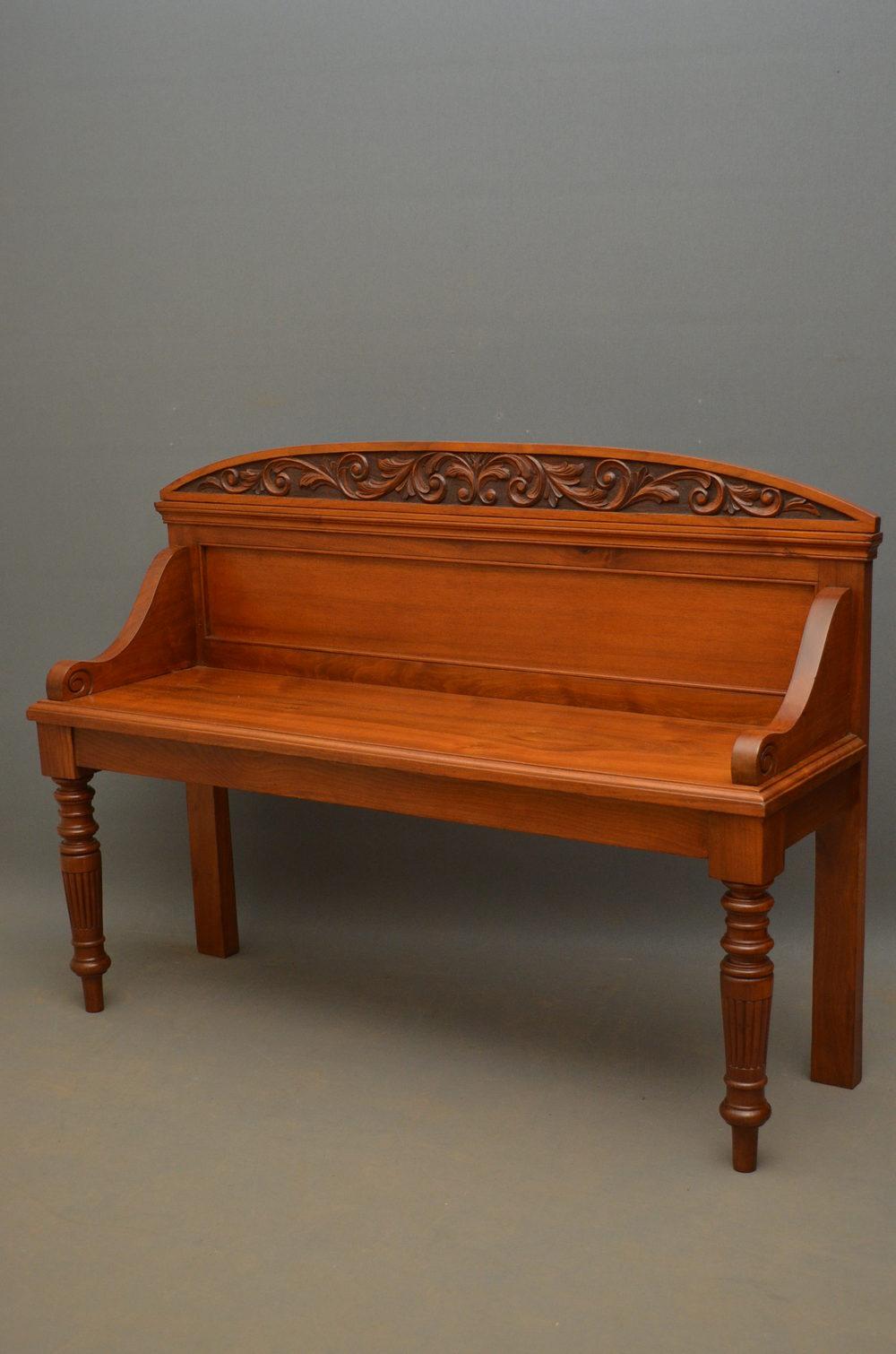 Stylish Victorian Bench In Walnut Antiques Atlas