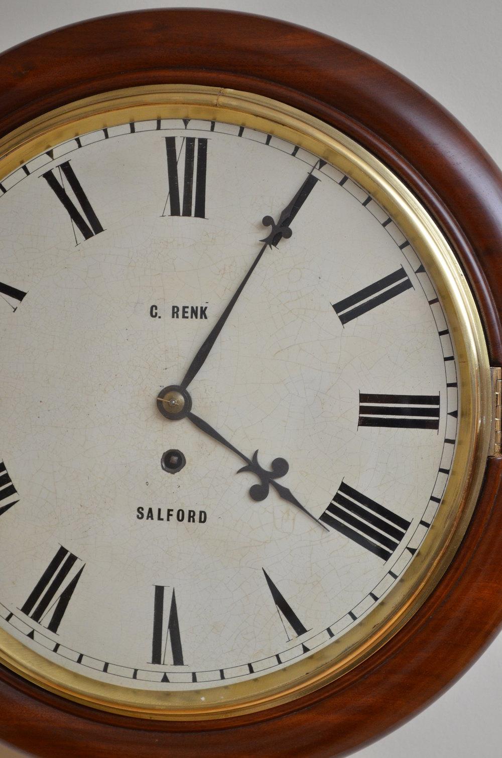 Antiques Atlas Victorian Fusee Wall Clock C Renk Salford