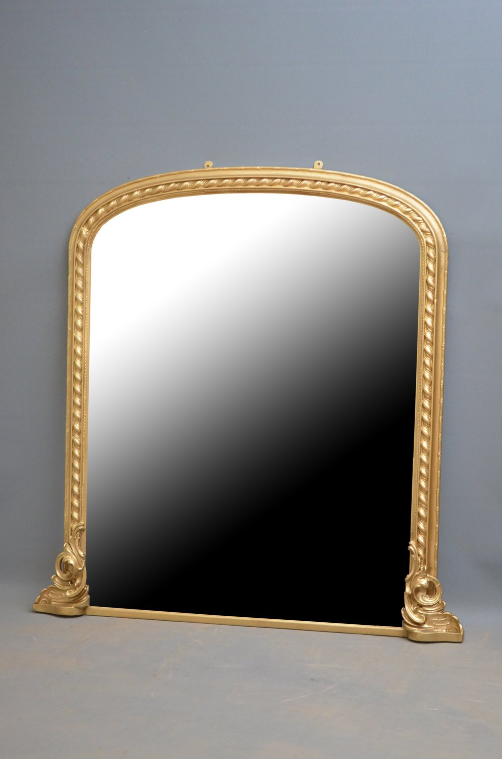 Antiques atlas victorian gilt overmantel mirror for Victorian mirror