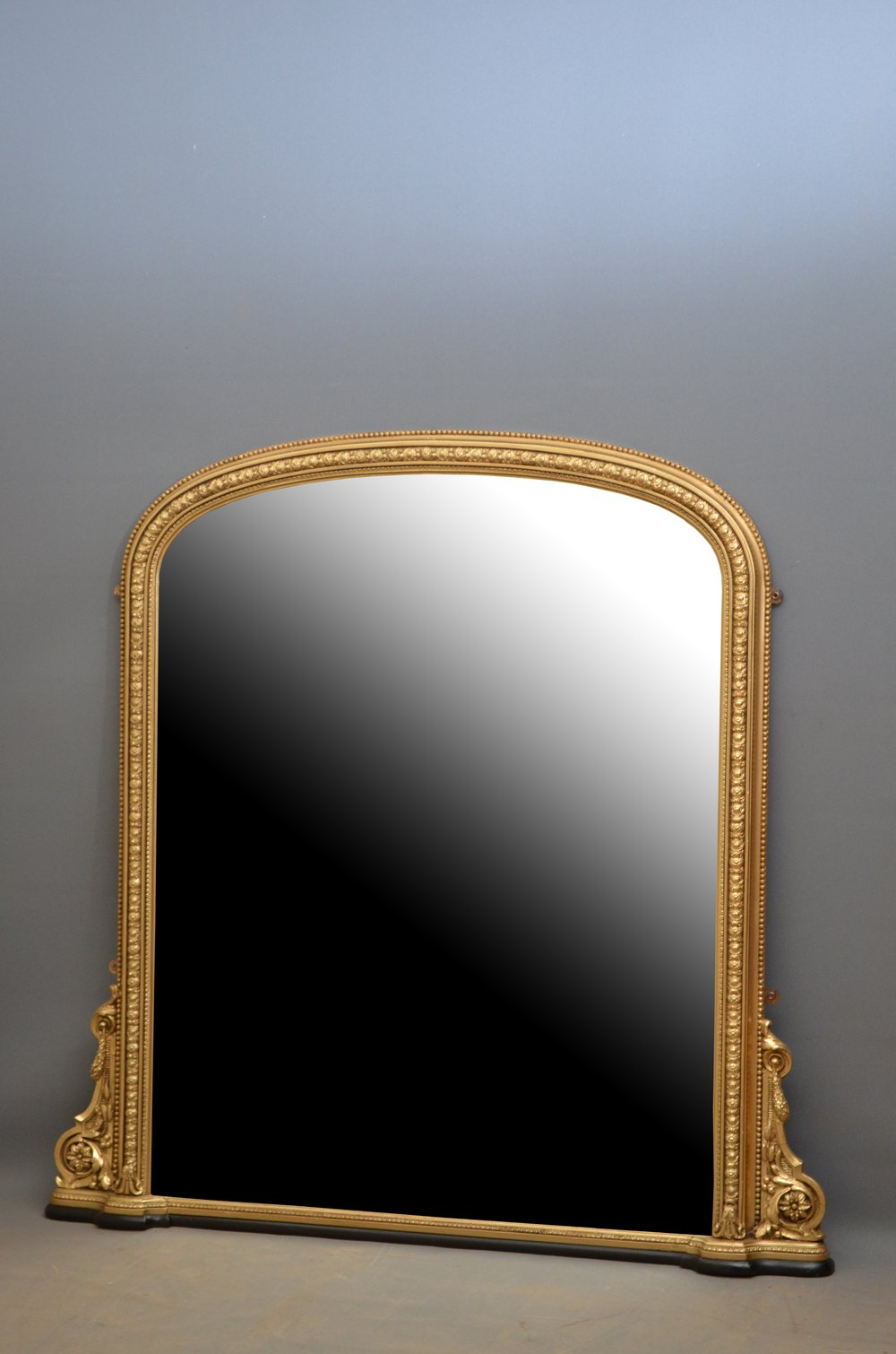 Antiques atlas victorian gilt wall mirror overmantle for Overmantle mirror