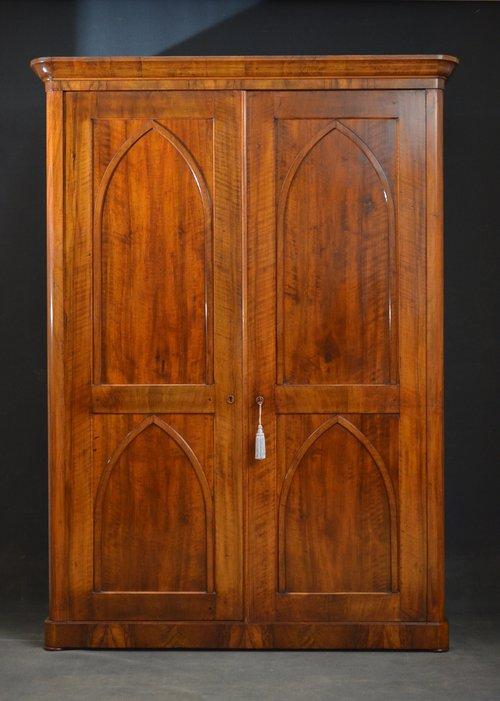 Victorian Gothic Revival 2 Door Wardrobe Antiques Atlas