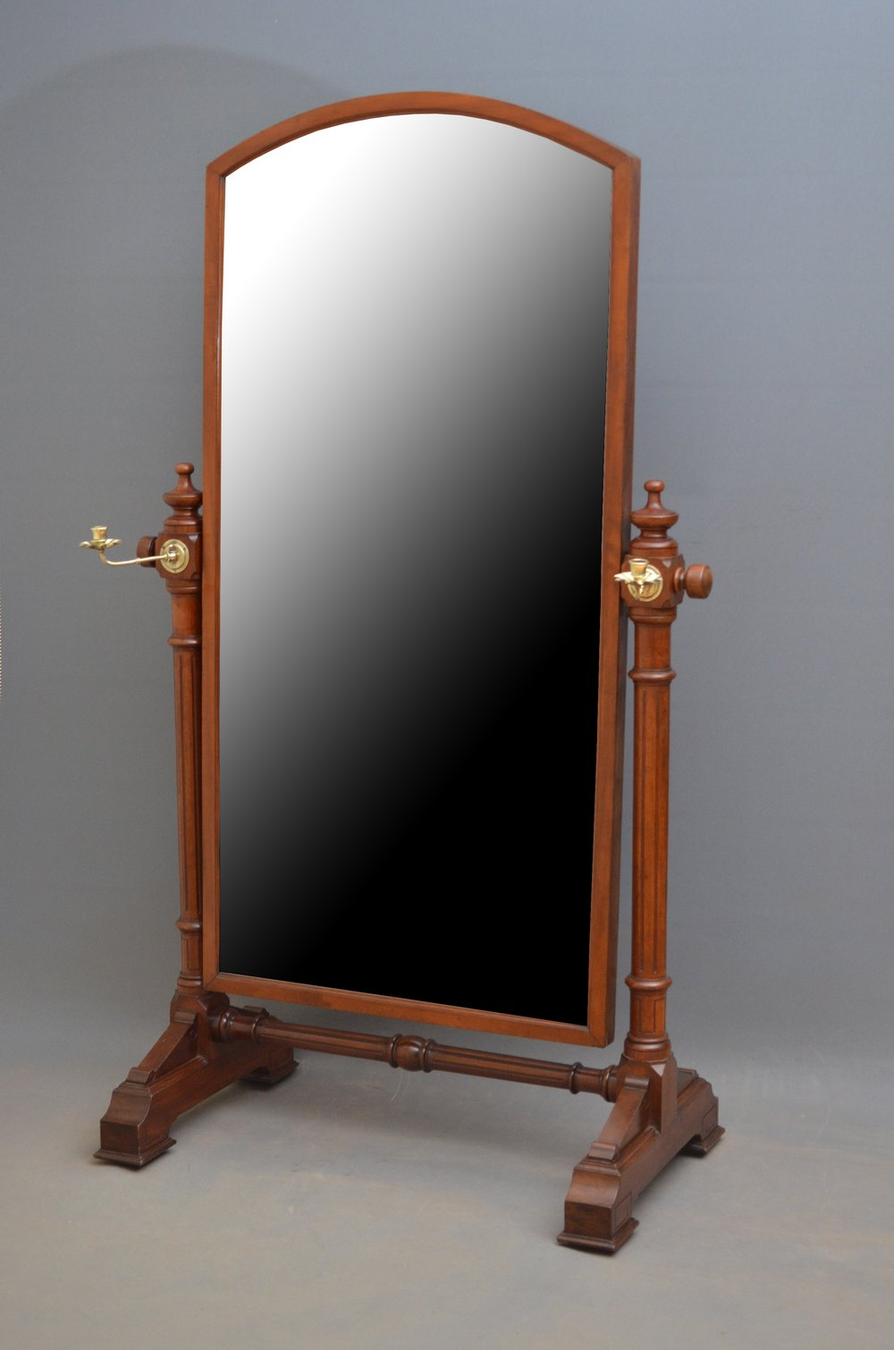 Antiques atlas victorian mahogany cheval mirror for Victorian mirror