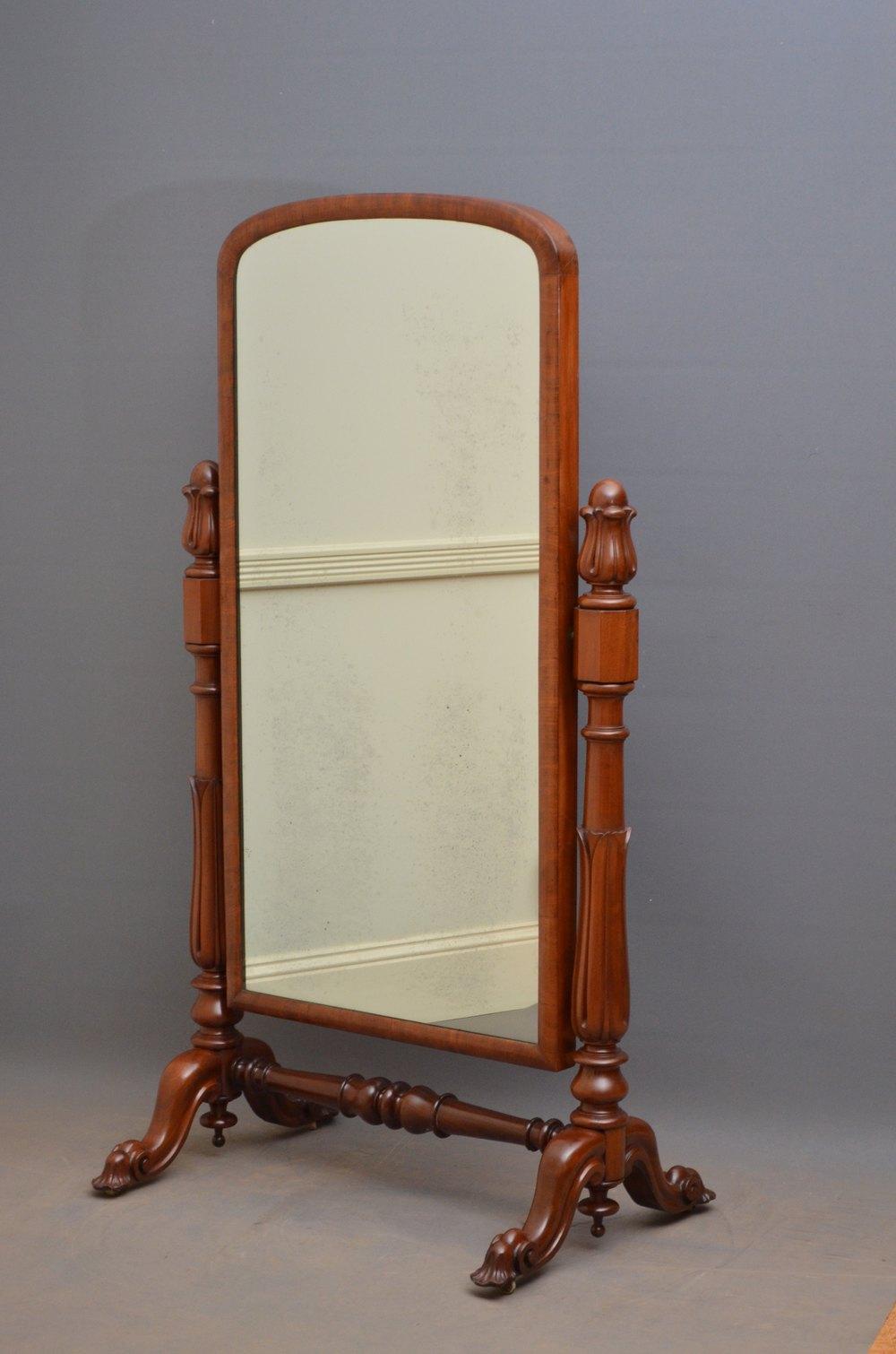 Antiques Atlas Victorian Mahogany Cheval Mirror