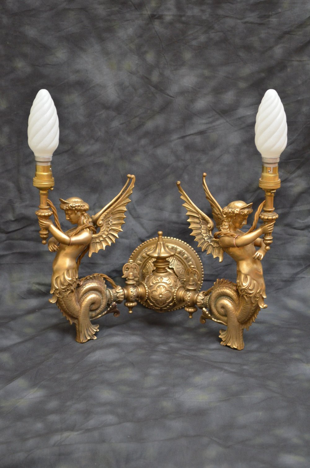 Antiques Atlas Victorian Brass Mermaid Sconce Wall Lights