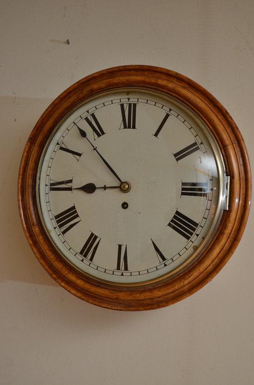Antiques Atlas Victorian Oak Wall Clock : VictorianOakWallClockas006a2830b from www.antiques-atlas.com size 500 x 755 jpeg 55kB