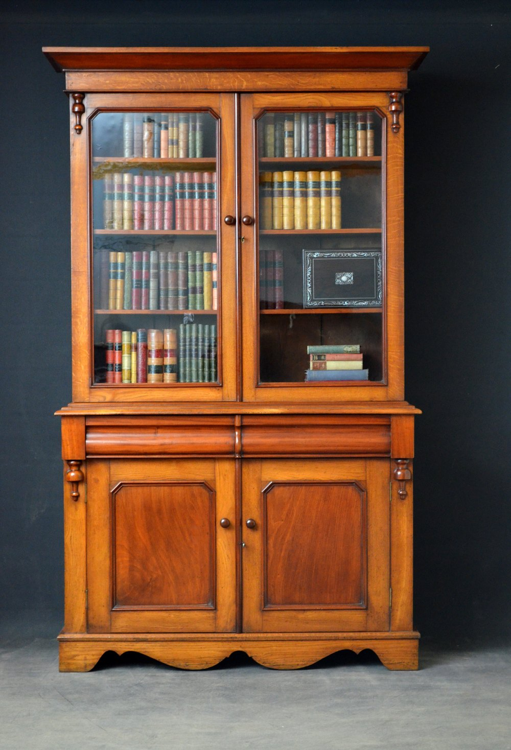 Old Bookcase Uk : Victorian oak and mahogany library bookcase antiques atlas