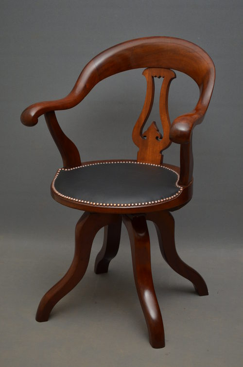 - Victorian Office Chair By C Meeking & Co London - Antiques Atlas