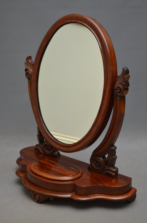 Antiques atlas victorian toilet mirror for Victorian mirror