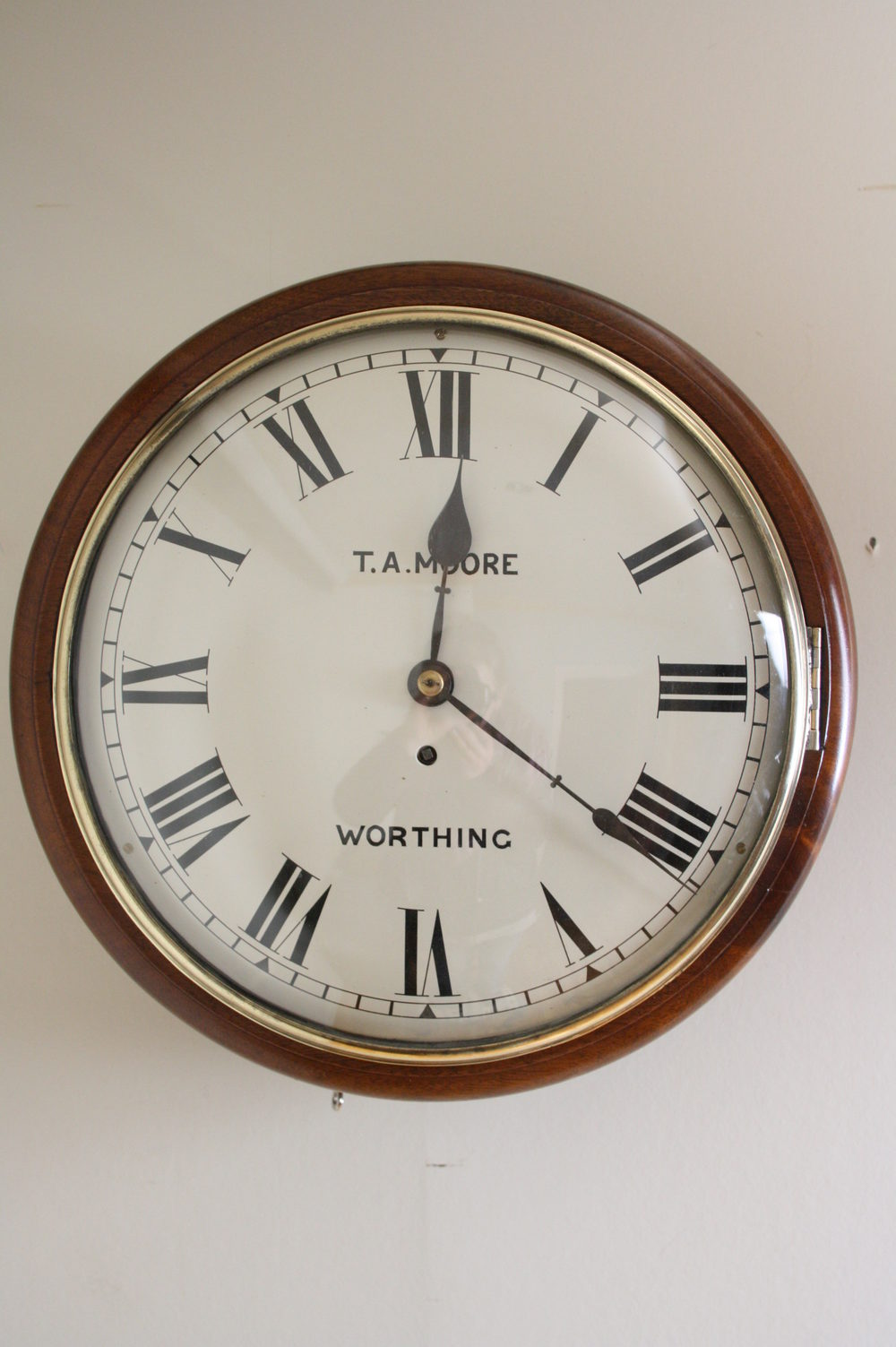 Antiques Atlas Victorian Wall Clock By T A Moore Worthing
