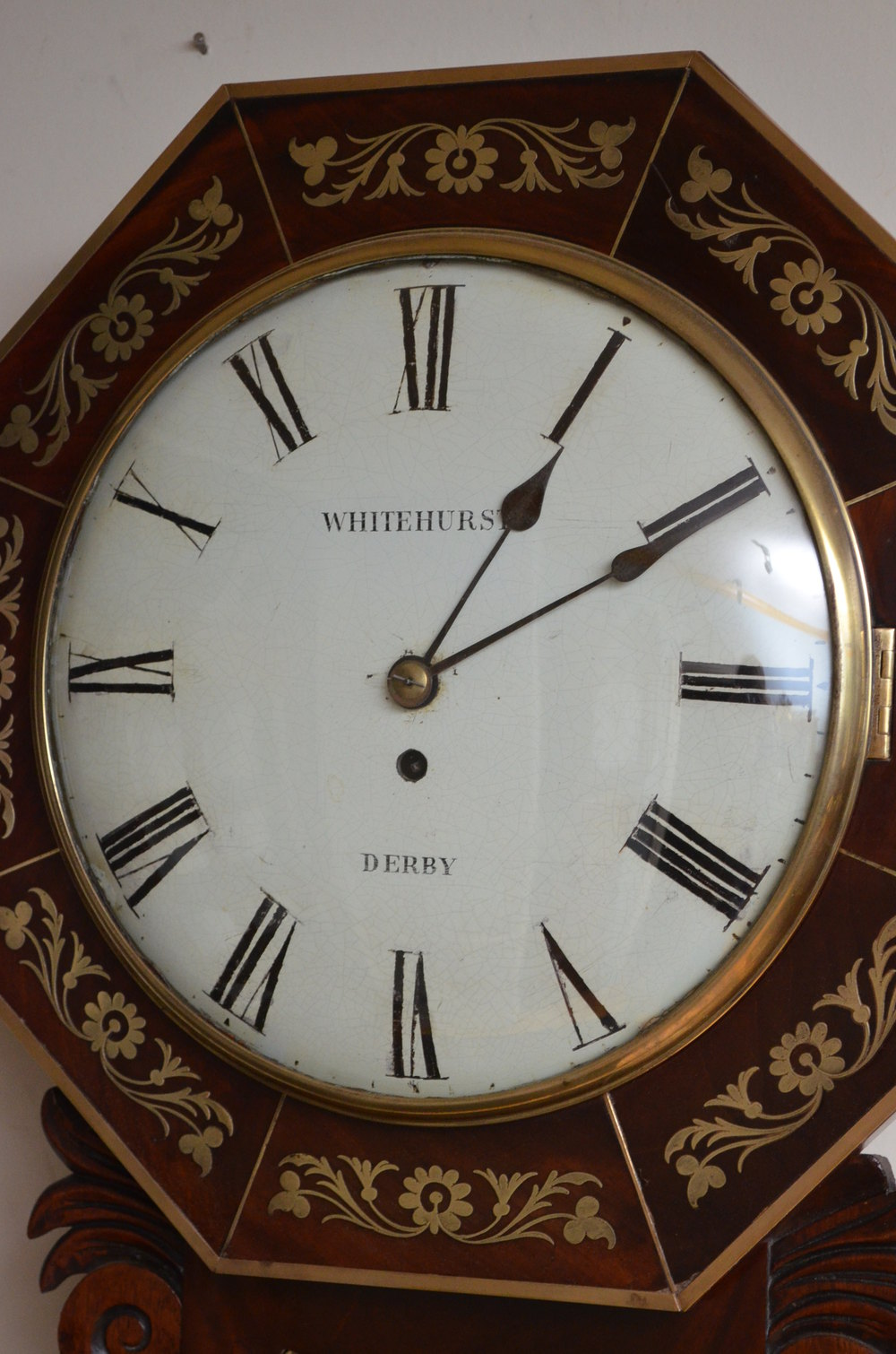 Antiques Atlas Whitehurst Of Derby Wall Clock