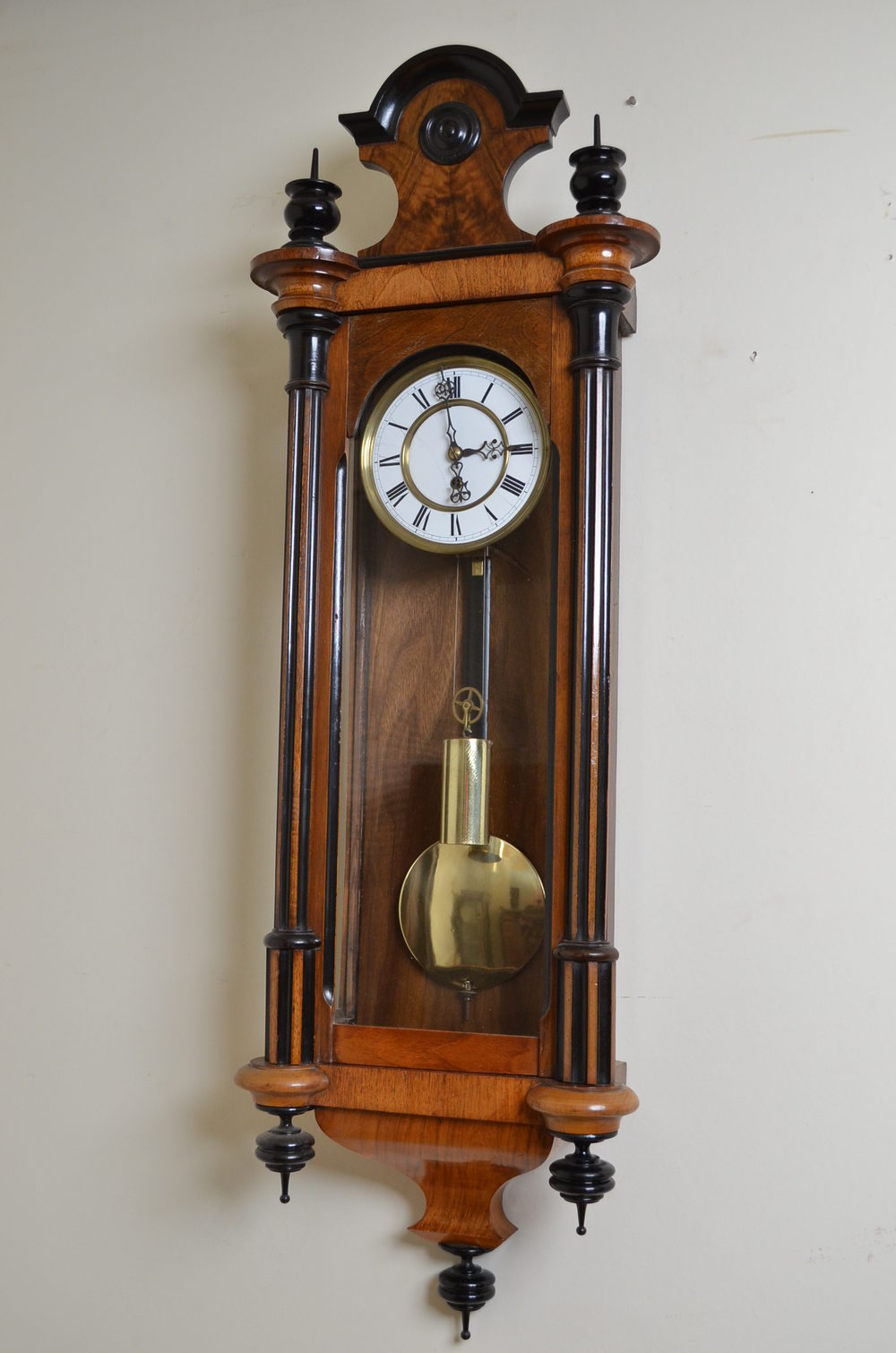 Antiques Atlas Victorian Vienna Clock In Walnut