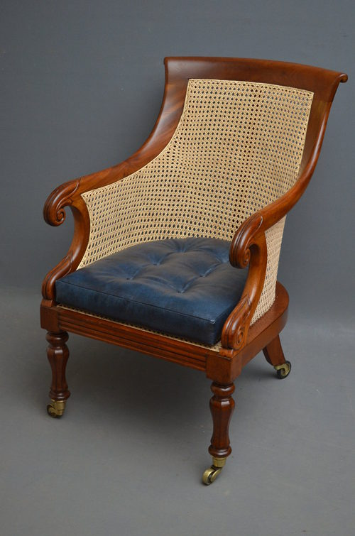 William IV Bergere Library Armchair Antiques Atlas