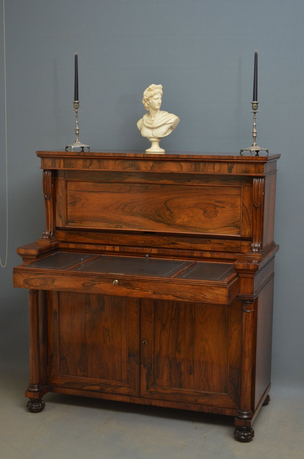 William iv metamorphic bureau in rosewood antiques atlas for Bureau antique