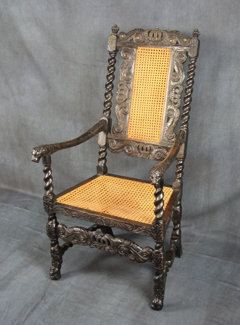 Charles II Walnut Armchair - Antiques Atlas