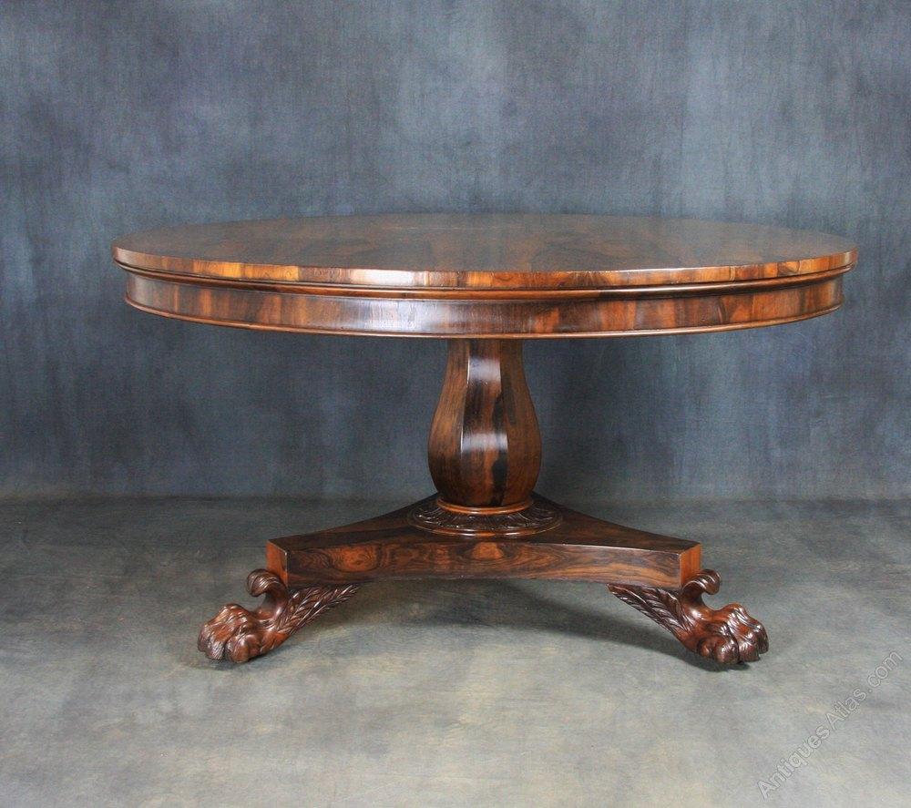 Regency Rosewood Breakfast Dining Table Antiques Atlas : RegencyRosewoodBreakfastDias346a213z 3 from antiques-atlas.com size 1000 x 887 jpeg 140kB