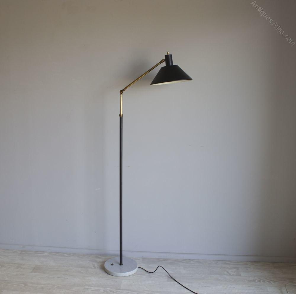 Antiques Atlas Adjustable Marble Based Floor Lamp