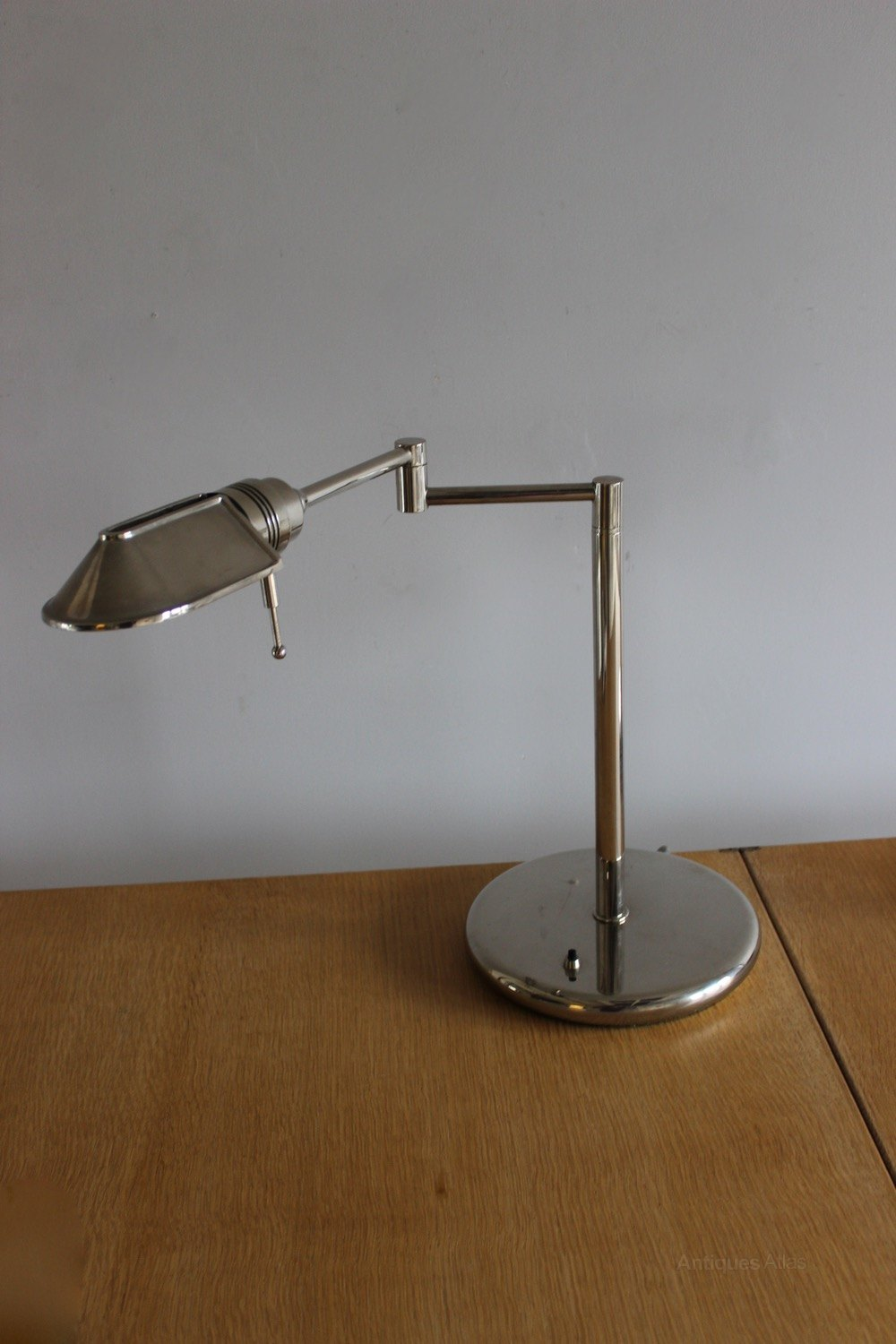 Antiques Atlas Articulated Nickel Desk Lamps