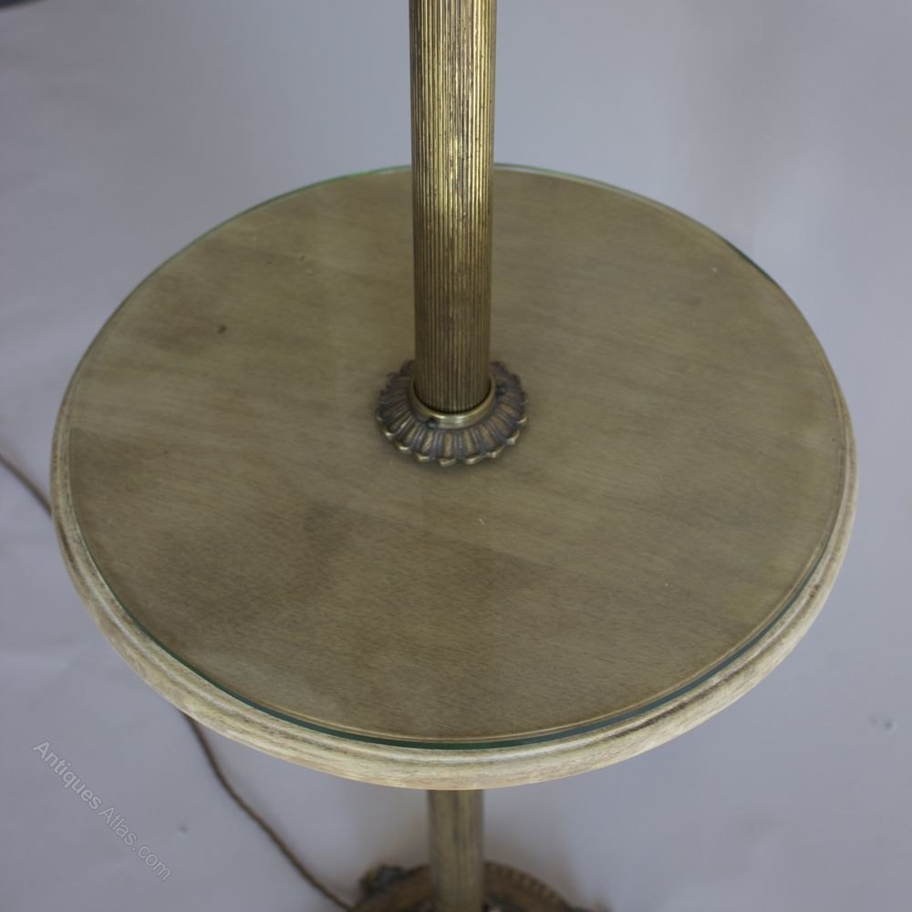 Antiques atlas brass 1950s adjustable floor lamp table for 1950 s brass floor lamp
