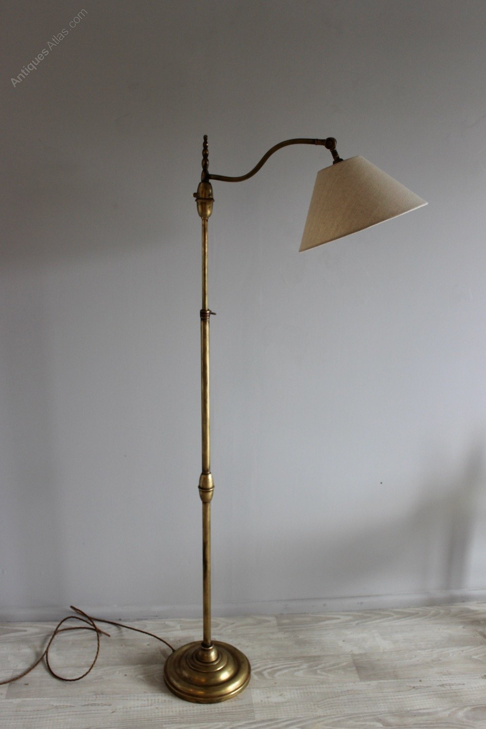 Antiques atlas brass adjustable 1950s floor lamp for 1950 s brass floor lamp