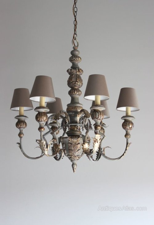 antiques atlas chandelier en bois with shades. Black Bedroom Furniture Sets. Home Design Ideas