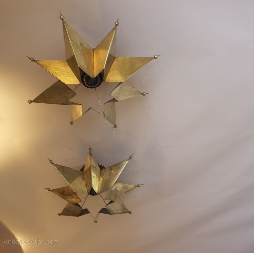 antiques atlas pair of 1950s star shaped ceiling wall