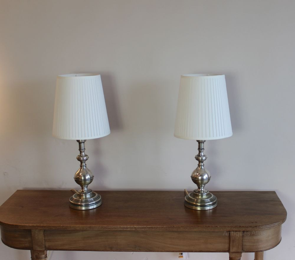 Antique bedside table lamps - Pair Of Antique Bedside Lamps And Shades Antique Lighting Table Lamps