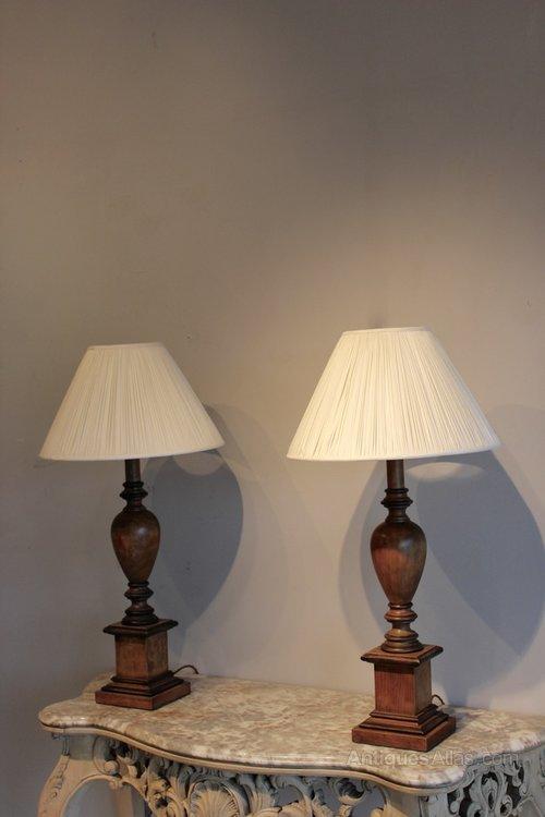 antiques atlas pair of walnut table lamps. Black Bedroom Furniture Sets. Home Design Ideas