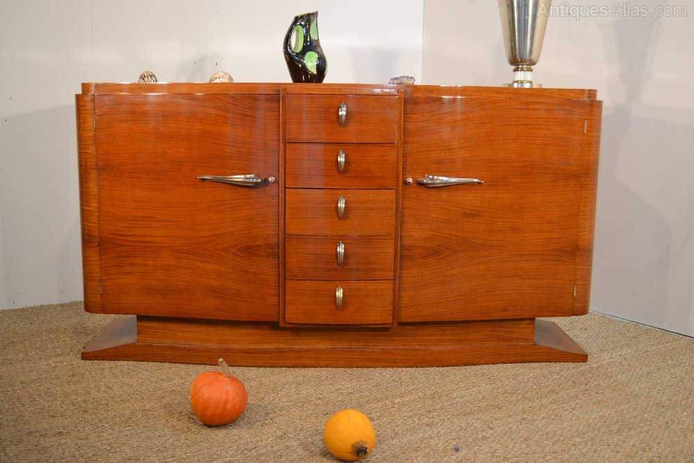 art deco sideboard in sapelli wood c1930 antiques atlas. Black Bedroom Furniture Sets. Home Design Ideas