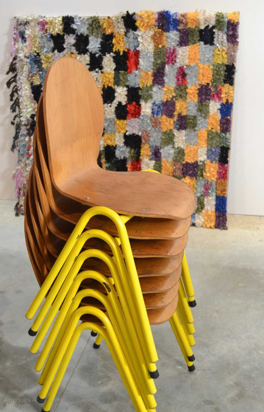 Antiques atlas yellow chairs 70s vintage for Vintage 70s chair