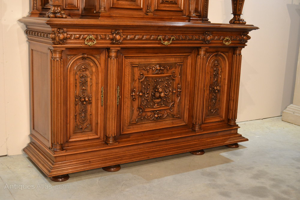 Buffet style henry ii 19th century antiques atlas - Meuble ancien avec marbre ...