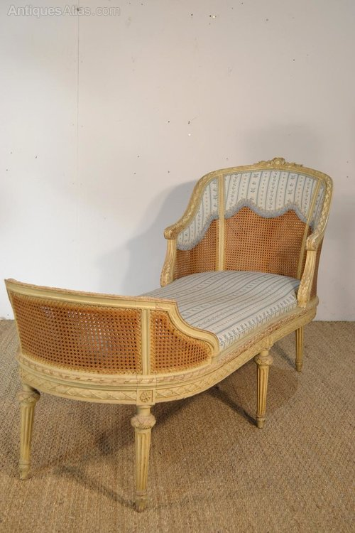 French louis xvi chaise longue antiques atlas - Chaise louis xvi pas cher ...
