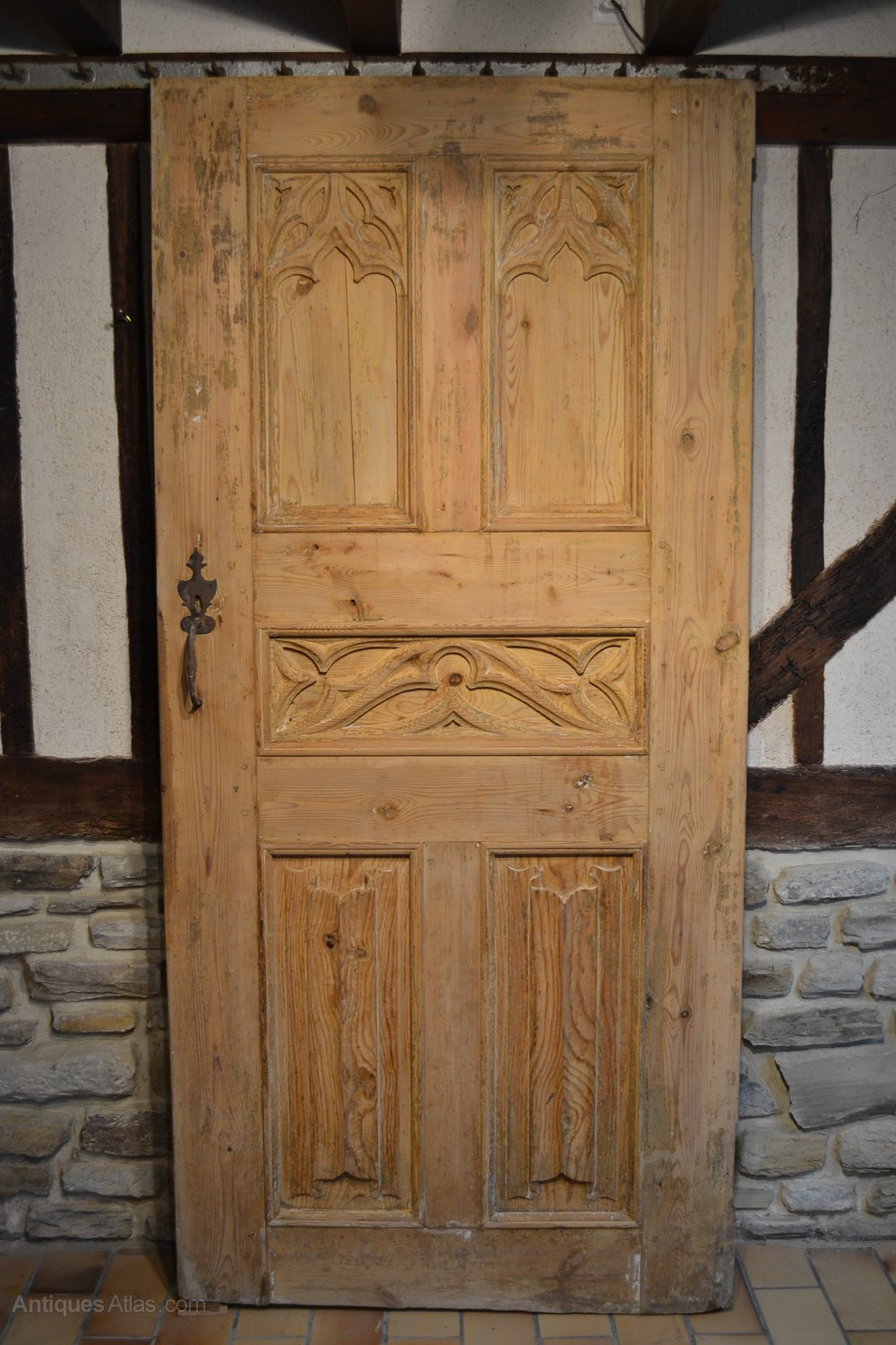 antiques atlas pair  antique doors gothic style