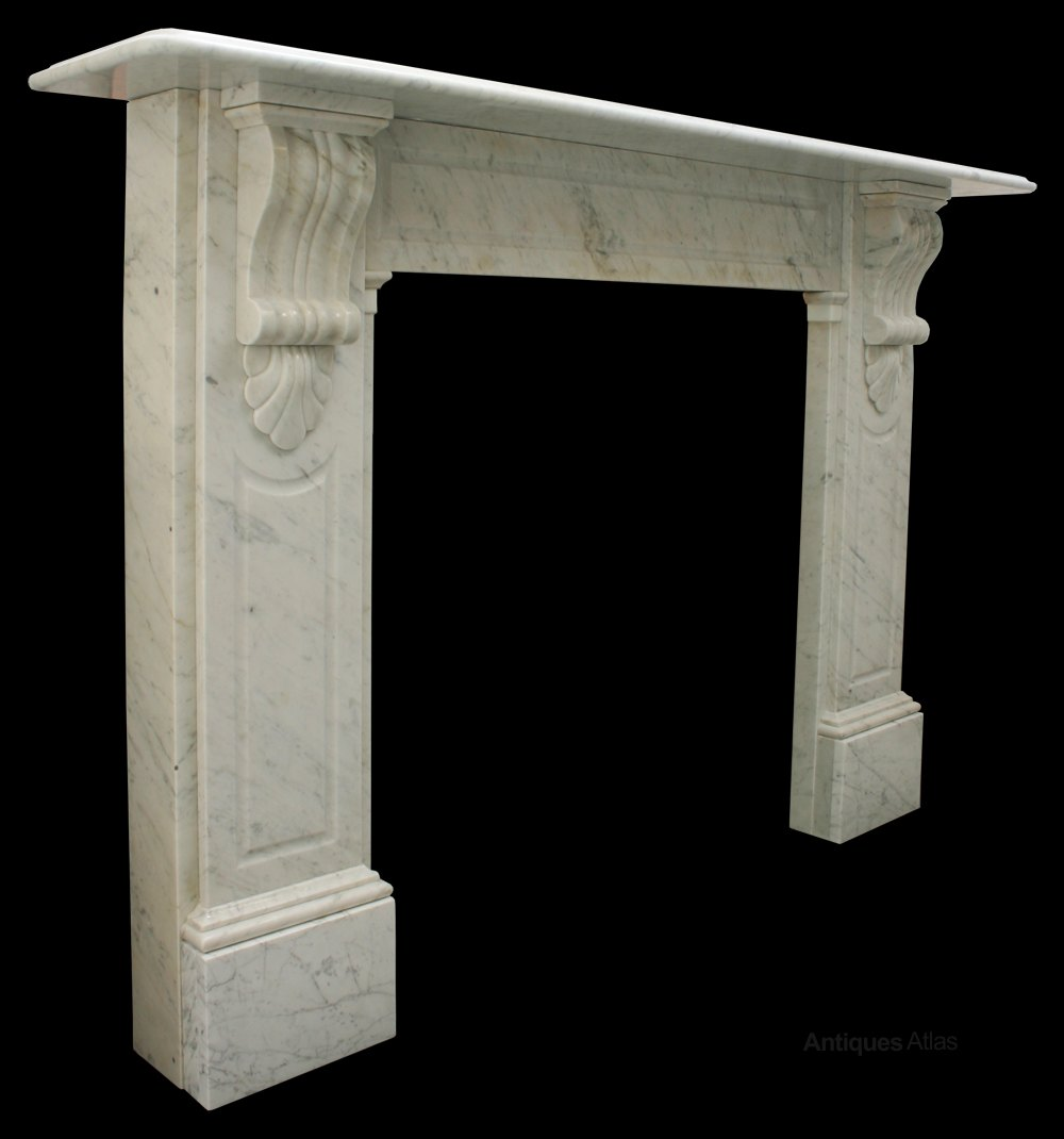 antiques atlas late victorian carrara marble fire surround