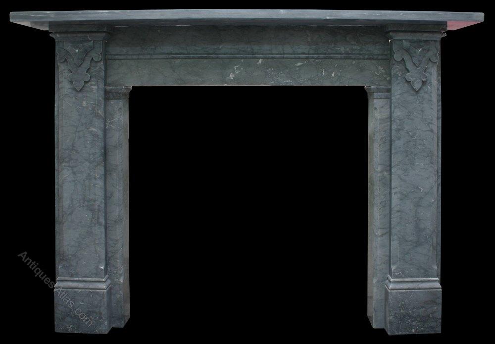 Antiques Atlas Victorian Irish Grey Marble Fireplace