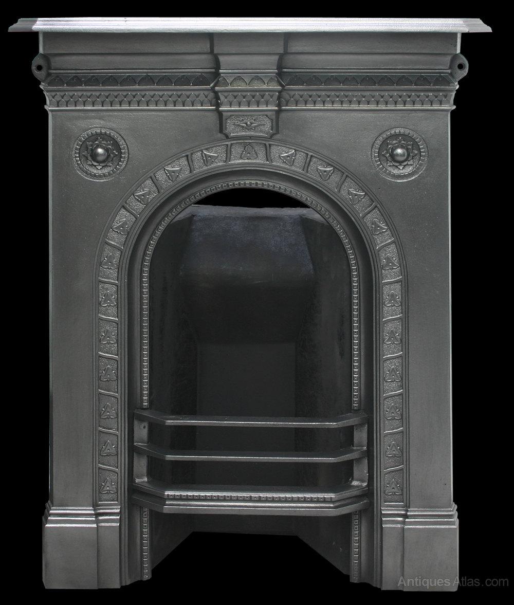 Antique Vintage Bedroom Fireplace: Antique Victorian Cast Iron Bedroom Fireplace