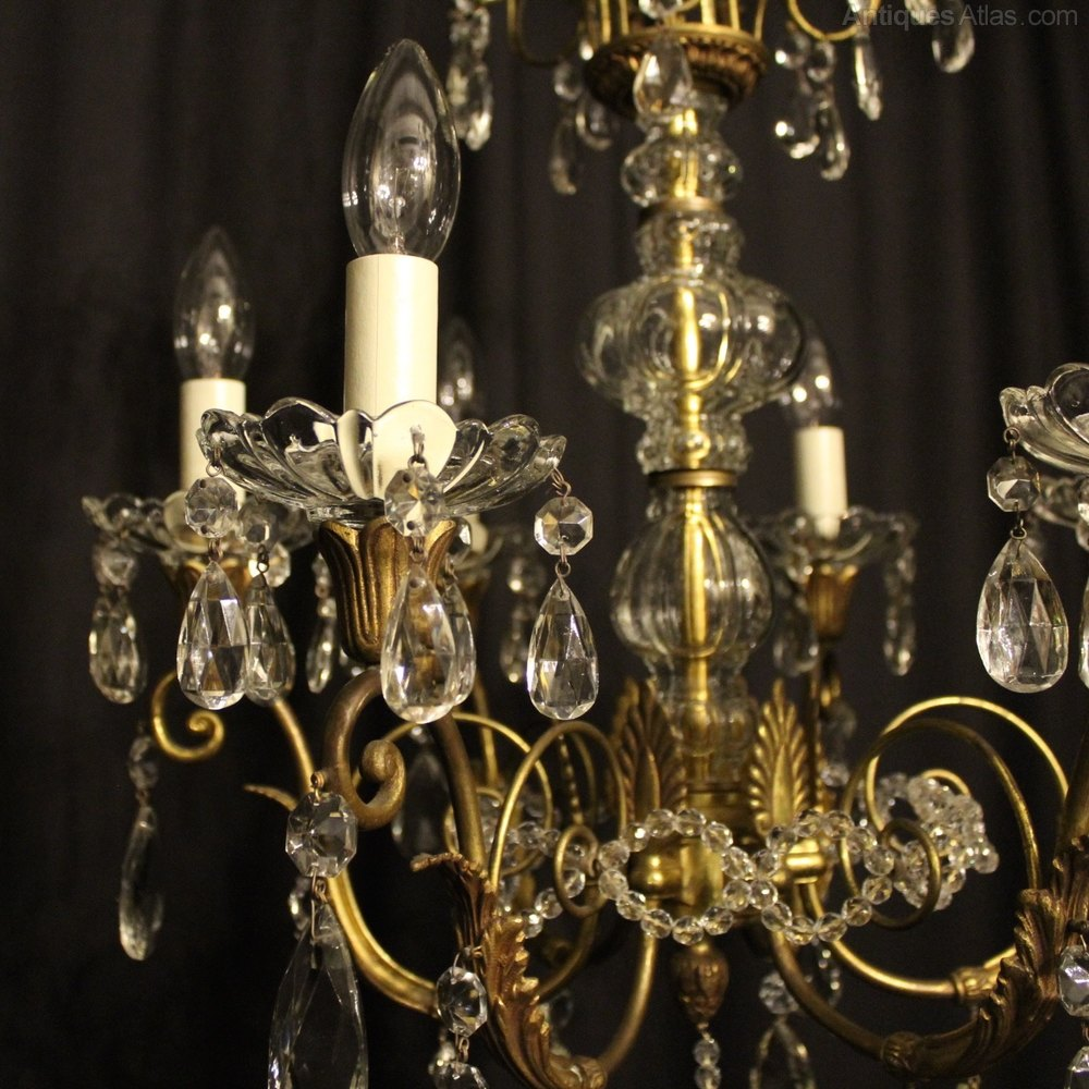 Antiques Atlas A French Gilded 6 Light Antique Chandelier