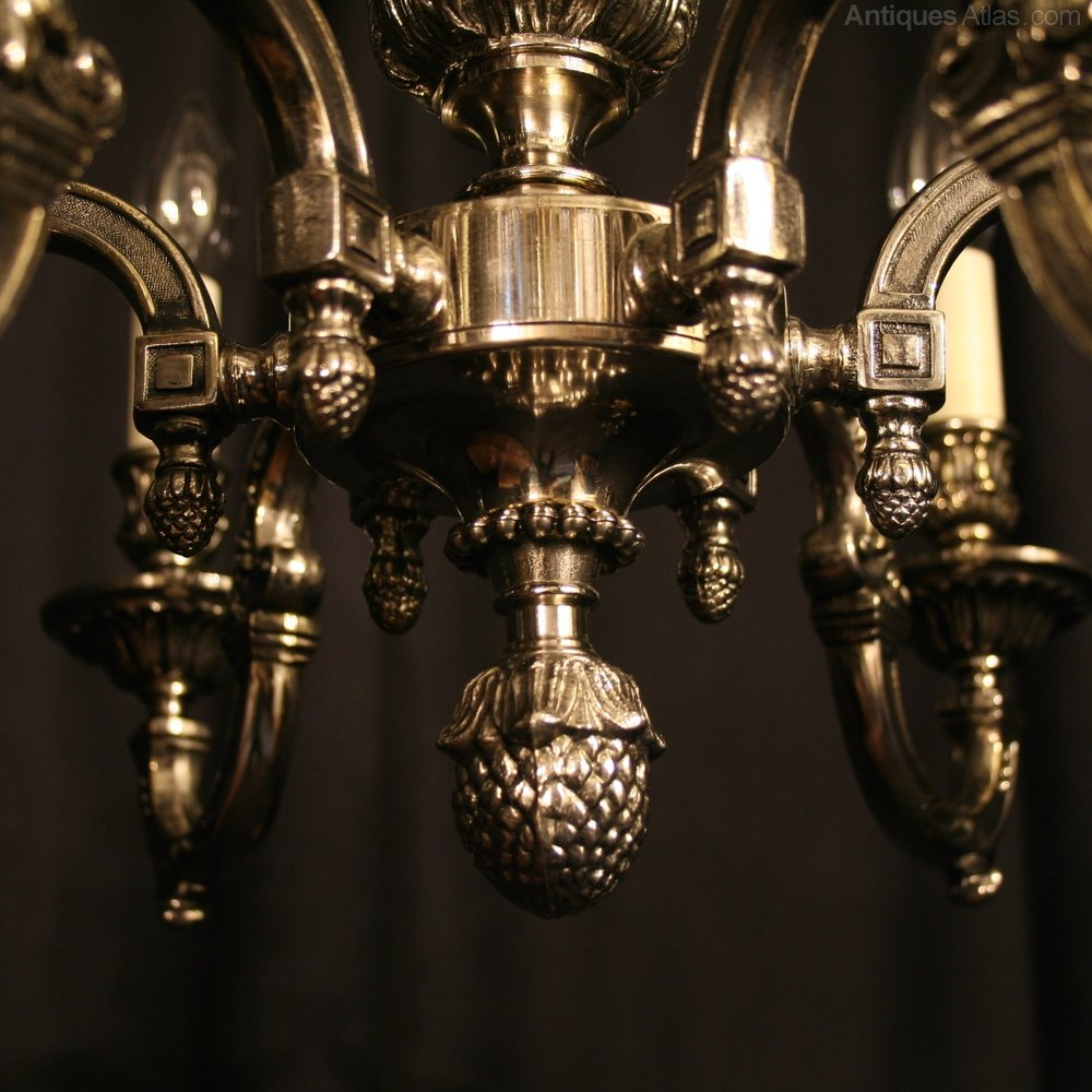 Antiques Atlas A French Nickel Plated 6 Light Chandelier