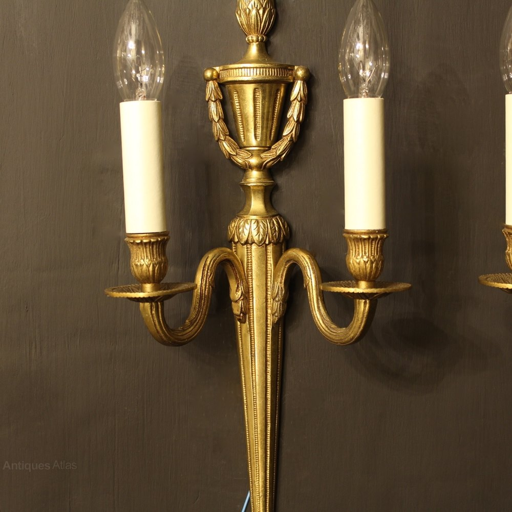 Antiques Atlas - A French Pair Of Gilded Antique Wall Lights